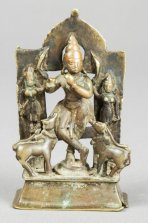krishna with cows front