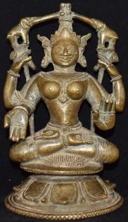 Gajalakshmi seated