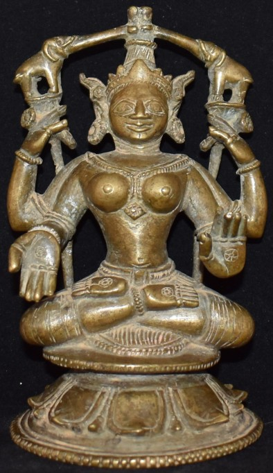 Gajalakshmi seated