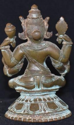 Seated Vishnu back