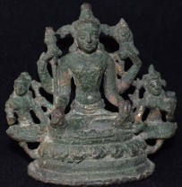 Vishnu triad seated Pala