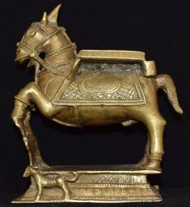 Khandobha horse and dog
