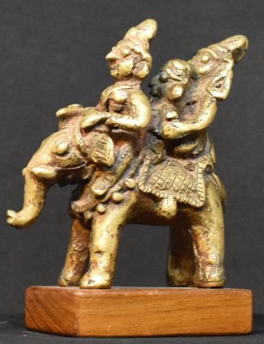 Elephant with riders left