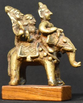 Elephant with riders right