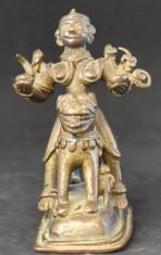 Durga on a lion front