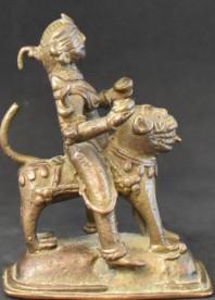 Durga on a lion side
