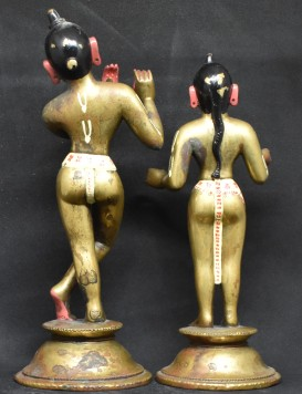 Radhakrishna Painted back