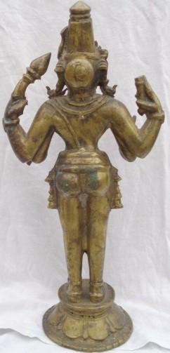 Vishnu fake back