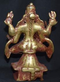Bhairavi with devotee back